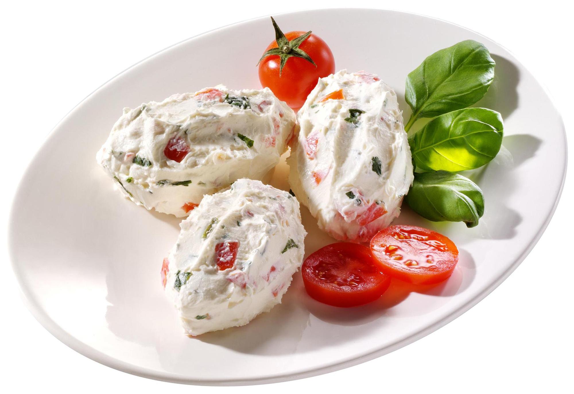 Tomaten-Basilikum-Frischkäsecreme